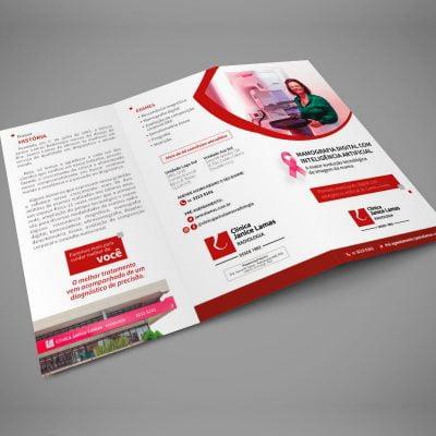 Marketing Médico Digital - Folder Clínica Radiologia