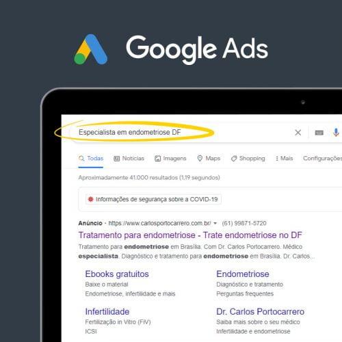 Marketing Médico Digital - Google ads